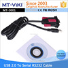 New design Usb to serial rs232 DB9 port converter adapter driver cable for windows 7 8 10