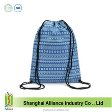 custom stylish waterproof high quality drawstring backpack