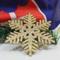 plastic christmas flat gold star ornaments