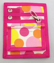 Pink Polk Dots Polyester Nurse Pocket Organizer Tool Bag