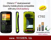 C702 cheap AAA backup battery dual sim mobile