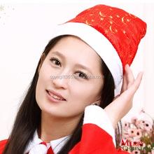 Gold Star Snowflake Printed Christmas Hat Caps Santa Claus Father Xmas Cotton Cap Christmas Decoration