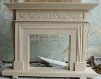 Living room luxurious style marble fireplace hearth slabs