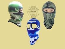 Balaclava Face Mask, Motorcycle Military Camouflage Waterproof Dustproof Windproof Safety Spandex Ski Balaclava Cap Hats