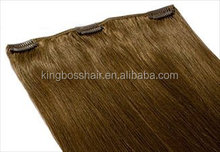 100% real virgin remy human hair one piece clips human hair extensions
