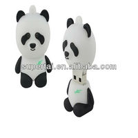 8gb PVC Panda Usb Memory Stick With Keychain