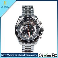 2016 new products steel business men vogue watch Chronograph quartz branded watch