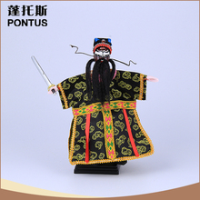 Unique design opera character wooden puppet gift items wholesale