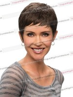 Hot Sale Fashion Design Short Black Synthetic Hair Wigs for Black Men