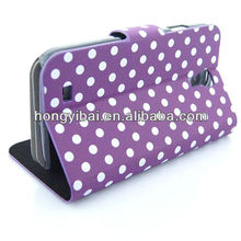Polka dot mobile phone wallet case for samsung of galaxy s3