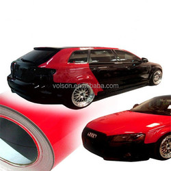 VOLSON top quality glossy vinyl for car wrap film with air channel removable glue size 1.52*30m
