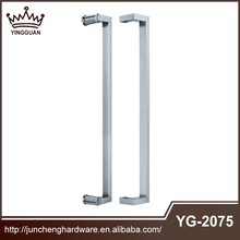 Double sided glass sliding door pull handle