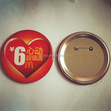 alibaba china metal round pin badge for promotion activity