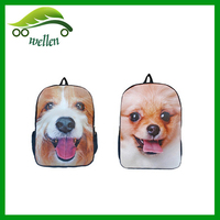 2015 new 3D animal print backpack dog backpack pattern