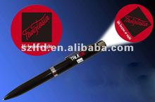 2015 logo project led pen light ballpoint led projector pen to advertising