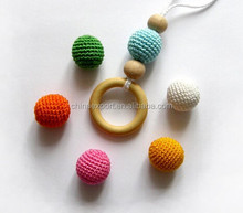 Wholeale Handmade Wool Wrapped Acrylic Beads Crochet Ball Beads
