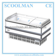 Direct Cooling Low Temp Curved Glass Freezer