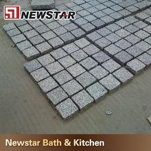 Natural split/flamed Black curbstone mesh cobblestone pavers granite