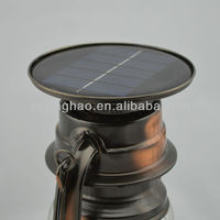 classical country style solar windproof led lantern