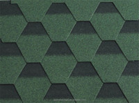 China Professional Manufactural Supplier Blue Hexagonal Mosaic Roofing Shingle