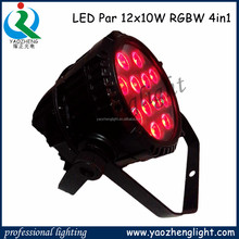 outdoor par light/12 pieces 10w rgbw 4-in-1 outdoor stage ligting