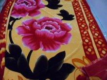 Polyester 3 sides Fringe Pleuche Bedsheet,Bedding Set