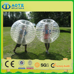 Interesting outdoor games kids inflatable body zorb