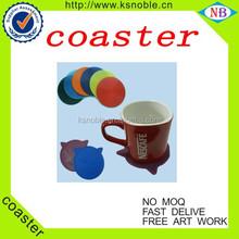 2015 new 2-Tone PE & PVC coaster new item pvc cup coaster