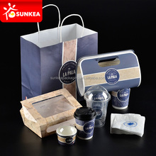 Disposable custom design food and drinking packing for restaurants