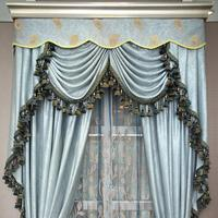 china High quality hot selling fancy fabric net curtain market
