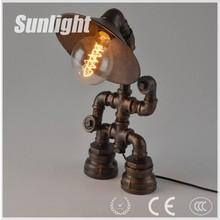 Industrial robot loft Edison retro personality conduit table lamp Coffee shop decoration creative desk lamp