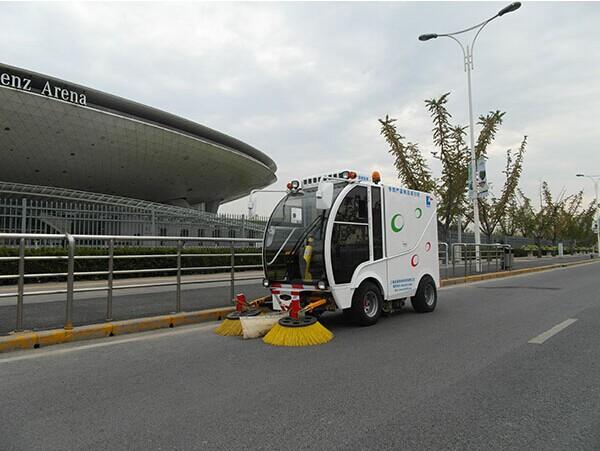 Làm sạch máy móc sàn đường phố quét, đường phố máy quét bán, đa chức năng đường quét