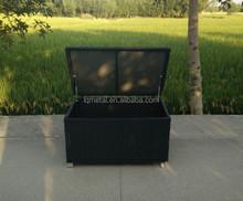 Functional Aluminium KD structure rattan storage box with wheel