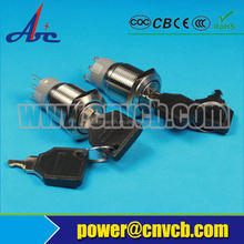 new design rotary key switch for sale metal push button key lock switch