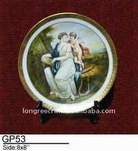 Antique Old Master Ceramic Oil Painting