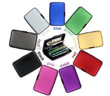 Cartera de tarjeta de aluminio protege de escaneo RFID portatarjetas de la cartera