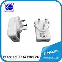 100% warranty real power 5v 2a uk plug usb charger adapter