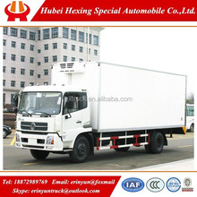 Factory outlet and hot sale Dongfeng 4x2 small freezer refrigerator tanker truck