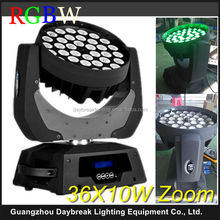 Stage led zoom moving head 36 x 10w RGBW 4IN1 Led moving head zoom light