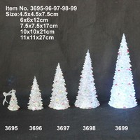 2015 wholesale various size colorful Christmas decoration tree , acrylic Christmas tree light
