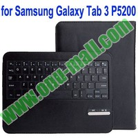 Removable Magnet Leather Case bluetooth keyboard for samsung galaxy tab3 p5200