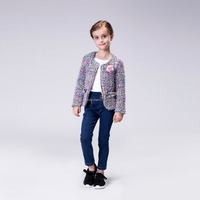 Hot Selling Mini Cute Colorful Short Slim Fit Design Winter Jacket For Baby Girls