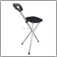 Square folding cane chair