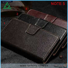 Lichee Pattern Genuine wallet leather case for Samsung Galaxy Note 5, Real leather case for Samsung Galaxy Note 5