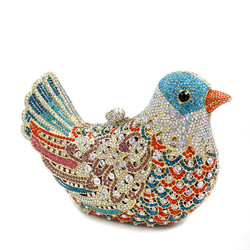 Customized Top quality bird design crystal evening bag with factory offer