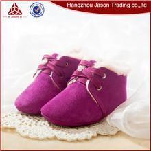 Venta al por mayor rosa recién nacido bebé de cuero suave zapato