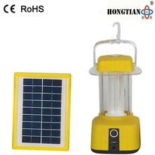 portable led solar camping lantern with mobile phone charger