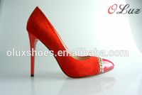 red color fashion ladies pointed toe sexy china wholesale shoes
