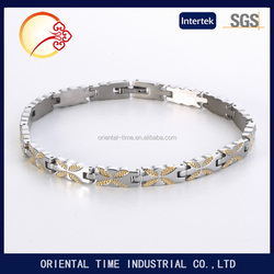 Tungsten women's Health Energy With Magnetic Stone Luxury silver Tone women Bracelets Bangles In Jewelry