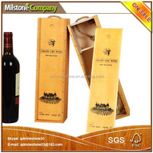 China Wholesale Wood Case for Wine Packaging Box Single Bottle Wine Box